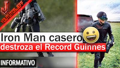 Iron Man, Iron Man casero, Record Guinnes de vuelo, Record Guinnes