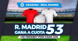 Paston Megacuota Osasuna vs Real Madrid 6-1-2021
