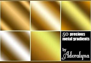 Golden Metal Gradients Photoshop Styles