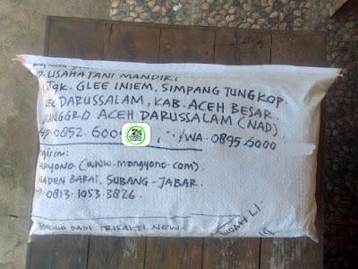 Benih Padi TRISAKTI NEW    Pesanan USAHA TANI MANDIRI Aceh Besar, NAD  (Sesudah Packing)