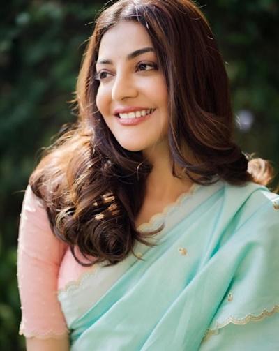 kajal agarwal latest hot saree images