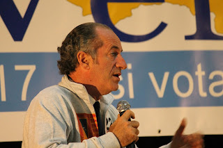The politician Luca Zaia has been president of the  Veneto region since 2010