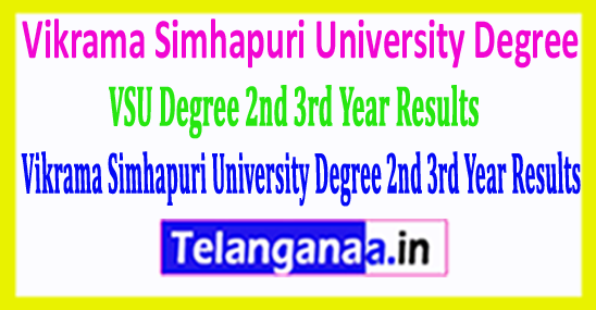 VSU Vikrama Simhapuri University Degree 2nd 3rd Year 2018 Results