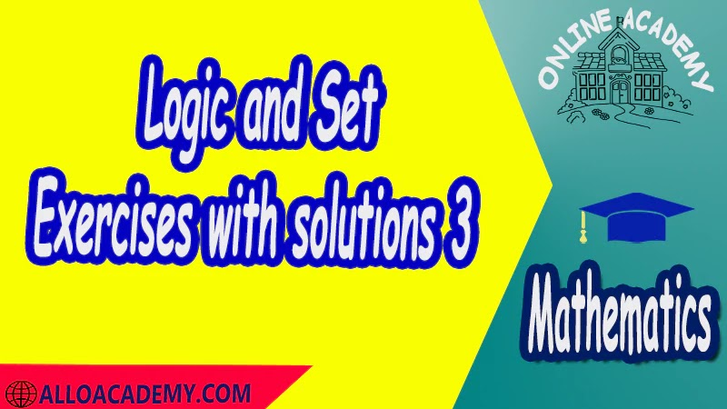 Exercises with solutions Logic and Set Theory Proof Sets Reasoning Mathantics Course Abstract Exercises whit solutions Exams whit solutions pdf mathantics maths course online education math problems math help math tutor be online academy study online online education online education programs online tech schools online study courses learning online good online schools finite math online classes for adults online distance learning online doctoral programs online master degree best online schools bachelor of early childhood education elementary education online distance learning universities distance learning colleges online education degree phd in education online early childhood education online i need a degree fast early childhood degree top online schools online doctoral programs in education educational leadership doctoral programs online distance learning bachelor degree bachelor's degree in early childhood education online technical schools bachelor of early childhood education online distance