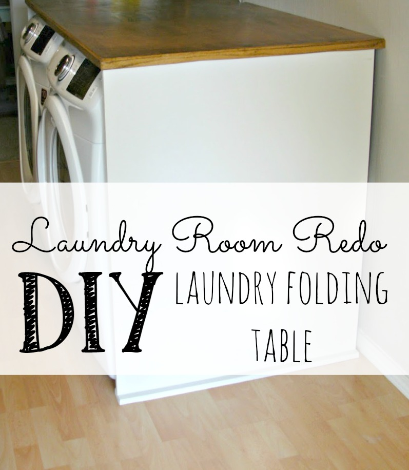 Laundry Room Redo   DIY Laundry Folding Table