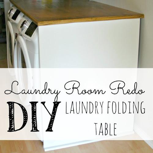 Laundry Room Redo - DIY Laundry Folding Table
