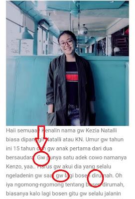 Bagian kedua:   Evaluasi Penulisan Profil Blog oleh Siswa-Siswi Kelas X SMA Kasih Karunaia Jakarta
