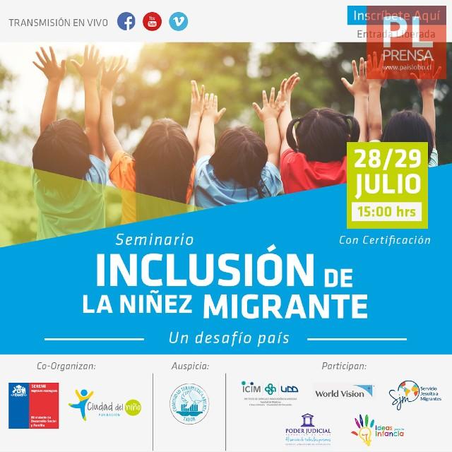 """Seminario """"Inclusión de la niñez migrante. Un desafío país"""""""