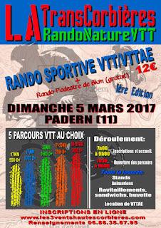 TransCorbières rando nature VTT/VTTAE 2017