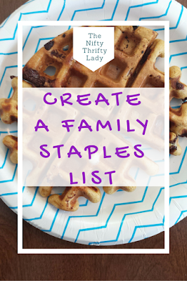 How to Create and Use a Family Staples List