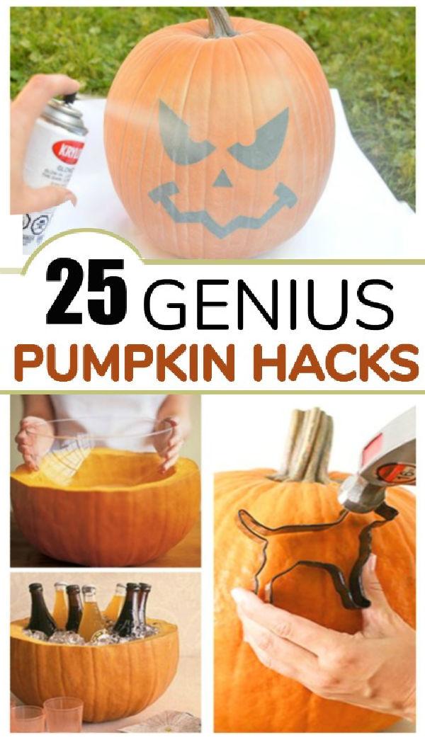 25+ GENIUS PUMPKIN HACKS! These are so clever! #pumpkinhacks #pumpkinuses #pumpkinideas #waystouseapumpkin #growingajeweledrose #activitiesforkids