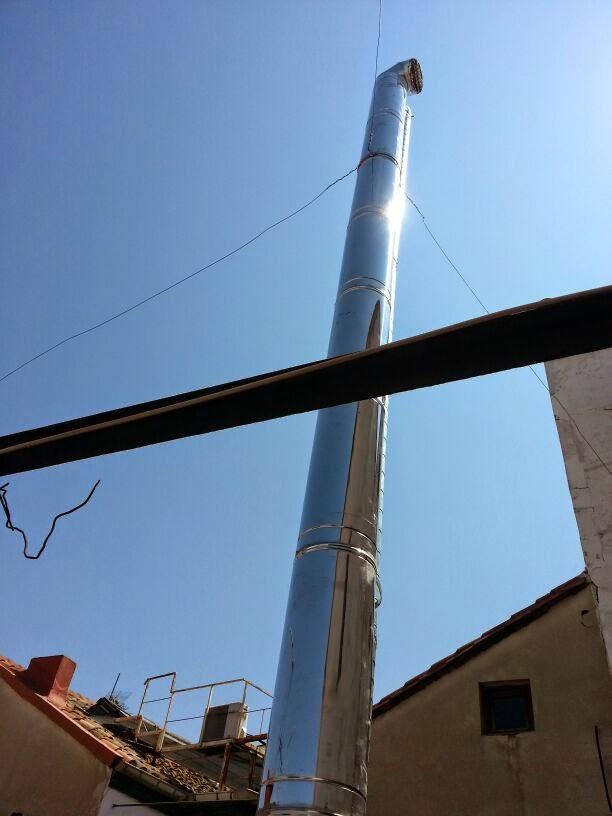 imagen trabajos de alargar tubos chimenea