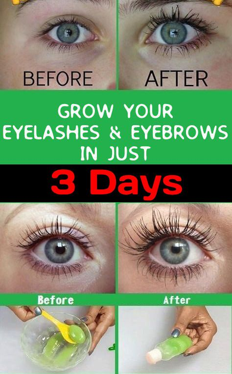 How to Grow Eyelashes and Eyebrows in 3 days   Wellness ...