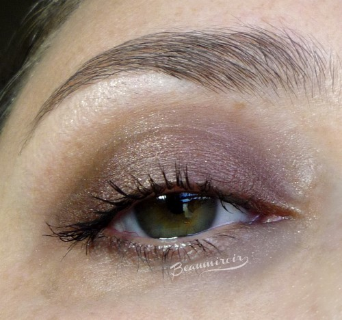 Day look with tarte Star Power Double Duty palette: Sparks Fly, Twilight, Glimmer