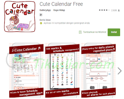 Aplikasi Kalender Android Lucu Cantik Terbaik
