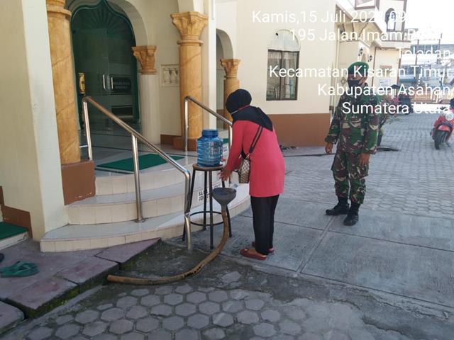 Silaturahmi Dengan Warga Sekaligus Laksanakan Gakplin Dilakukan Personel Jajaran Kodim 0208/Asahan