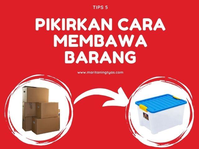 membawa barang dengan container box