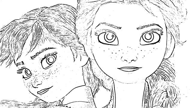 The Disney Princesses Disney coloring pages holiday.filminspector.com Frozen
