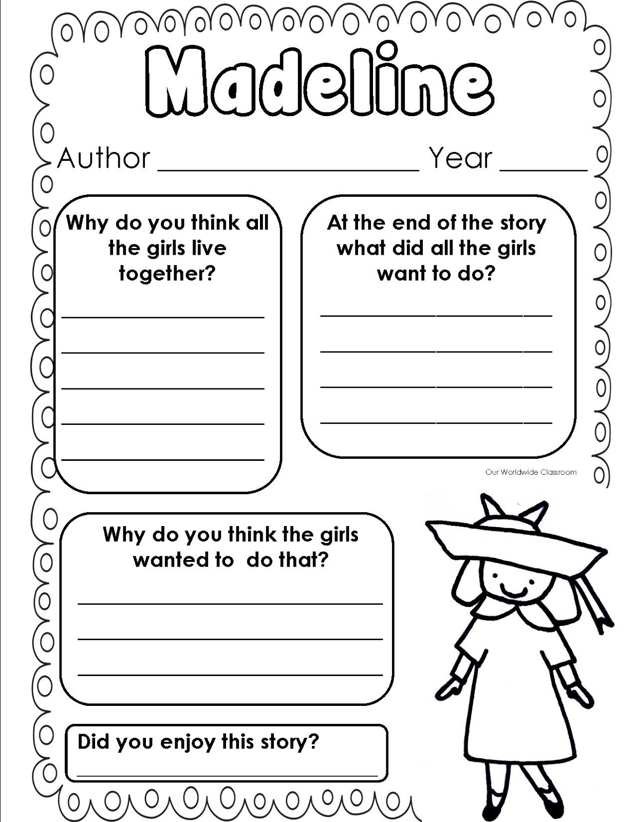 Madeline Worksheet
