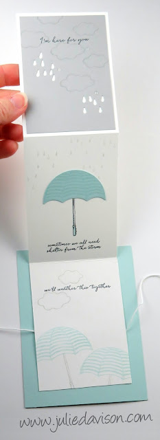 VIDEO: Weather Together Extended Fold Card Tutorial ~ Stampin' Up! Last Chance ~ www.juliedavison.com