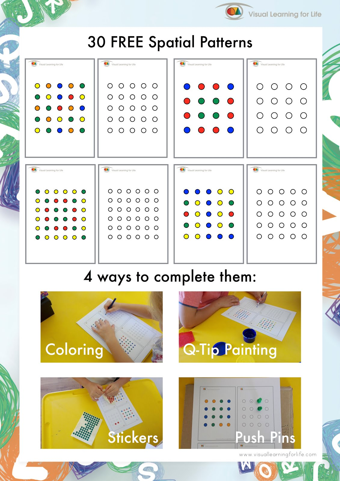 Visual Learning For Life Fine Motor Spatial Patterns