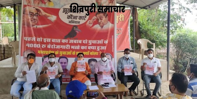 झूठ बोले कौआ काटे अभियान के तहत भाजयुमो करेगी कमलनाथ व दिग्विजय सिंह का विरोध / Shivpuri News,