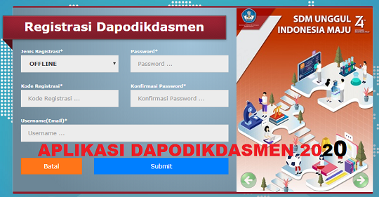 download aplikasi dapodikdasmen 2020 TA 2019 2020