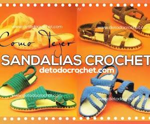 Sandalias a Crochet | 4 modelos | Paso a paso