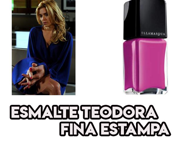 O esmalte rosa choque de Carolina Dieckmann, a Teodora de Fina Estampa