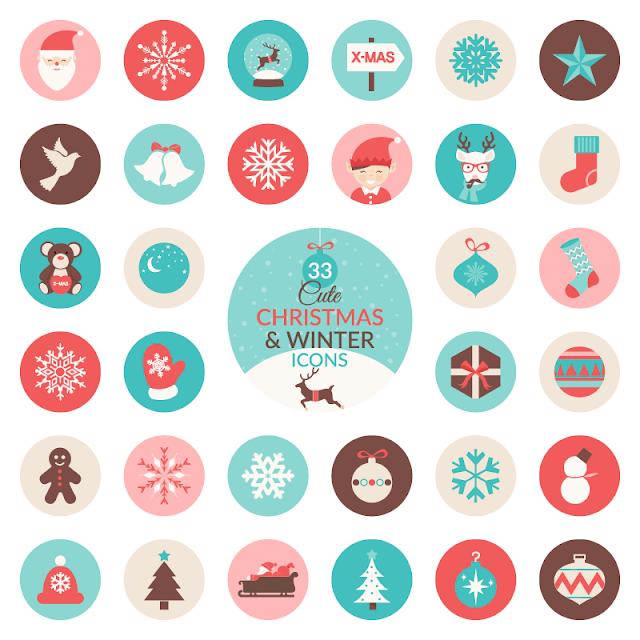 Бесплатные иконки на новогоднюю тематику