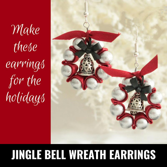 Jingle Bell Wreath earrings Pinterest Inspiration Pin