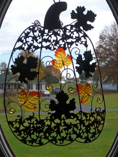 The View from Squirrel Ridge: Autumn Window Decor