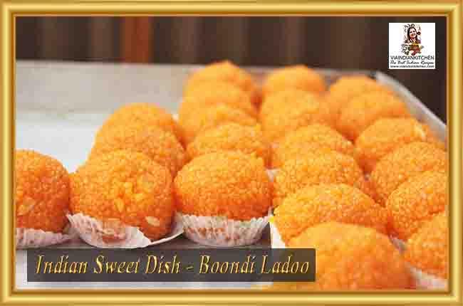 Indian Sweet Dishes - Boondi Ladoo