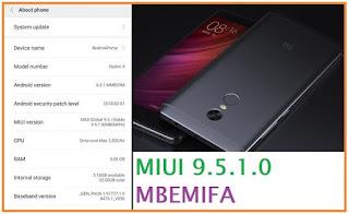 Update Redmi 4 Prime ke MIUI 9.5.1.0 MBEMIFA
