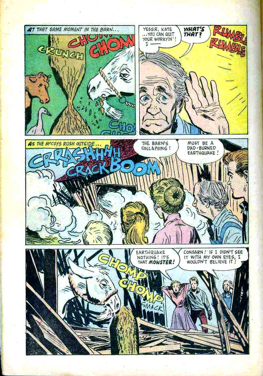 Real McCoys / Four Color Comics #1071 dell comic book page art by Alex Toth