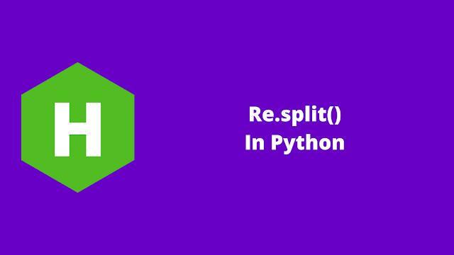 HackerRank Re.split() in python problem solution