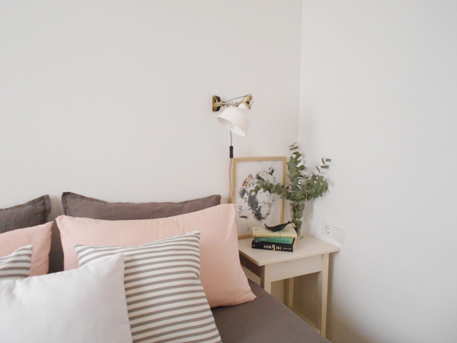 Decorar piso de alquiler mi habitacin en blanco rosa y gris La