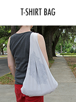 Recycle & repurpose an old tee by transforming it into a shoulder bag