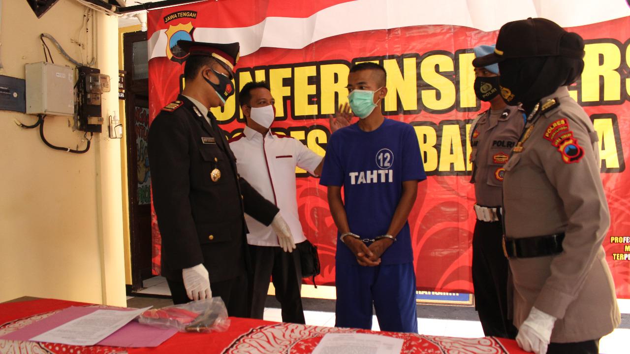Polisi Amankan Pencuri HP di Kelurahan Purbalingga Kidul