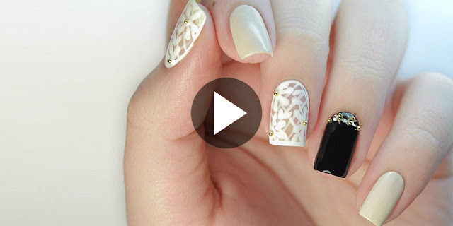 How To Create Floral Lace Prom Nail Art Design, See Tutorial