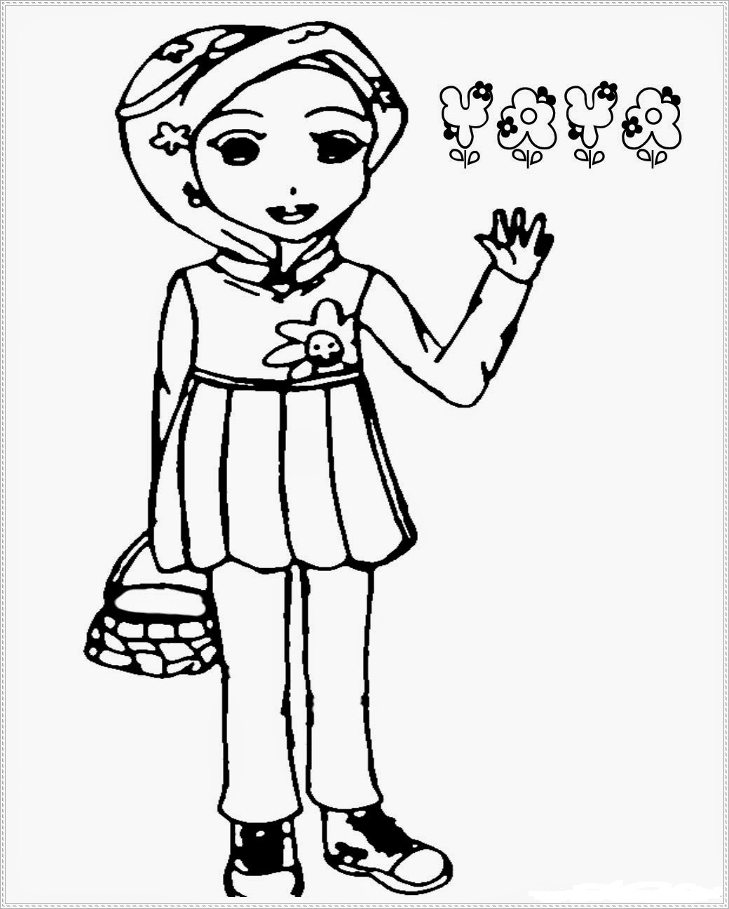 Mewarnai Gambar Kartun Hitam Putih Boboboi Wwwtollebildcom
