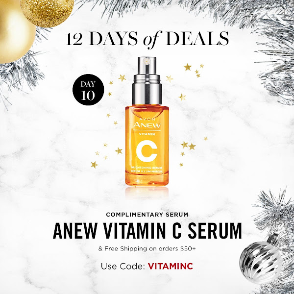 The 10th day of 12 Days of Deals. FREE ANEW VITAMIN C SERUM & FREE SHIPPING ON ORDERS $50+. USE CODE: VITAMINC. EXPIRES MIDNIGHT TONIGHT 11/20/19. SHOP NOW >>>