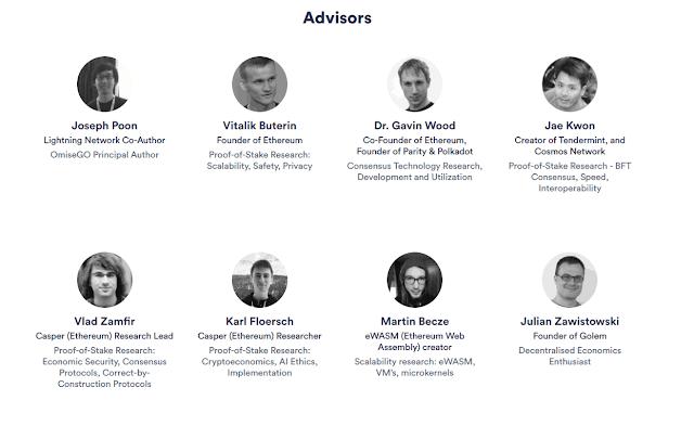 Equipo OmiseGO - asesores  Vitalik Buterin y Lightning Network Creator Joseph Poon