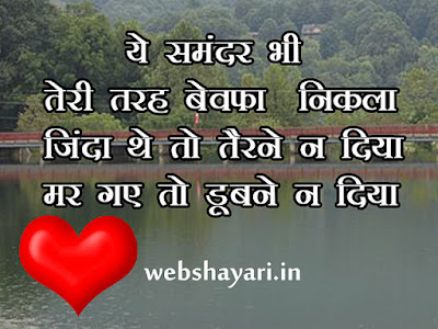 bewafa shayari hindi with image