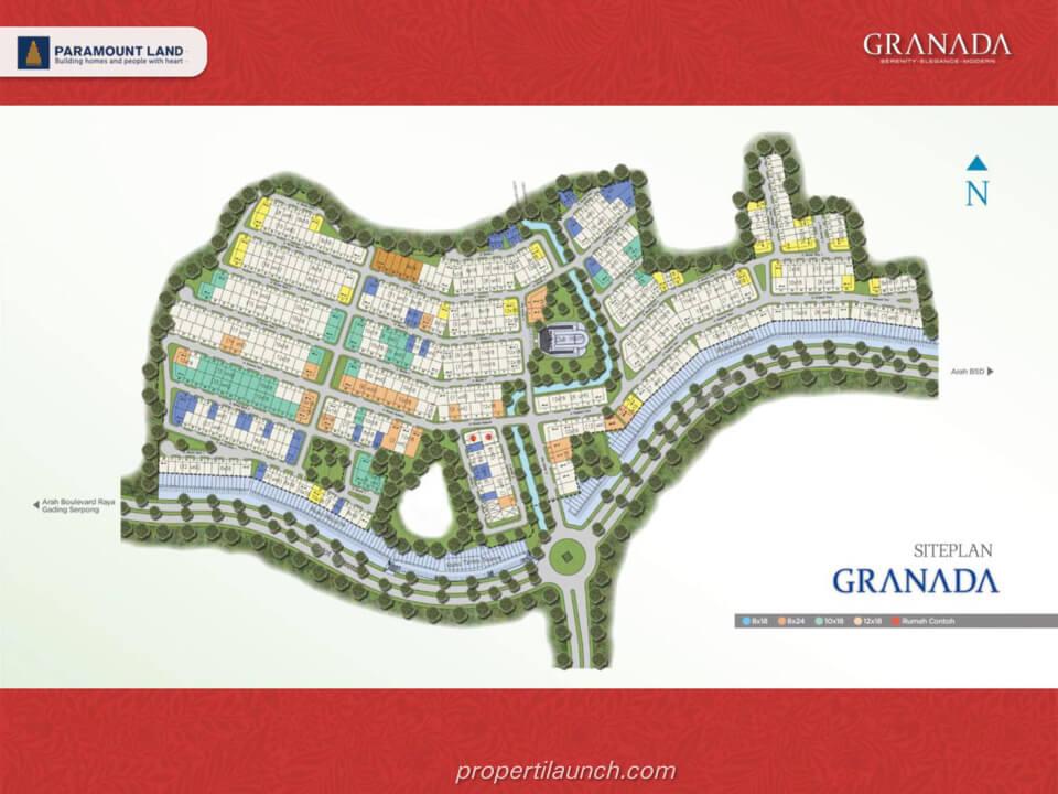 Siteplan Rumah Granada @ Alicante Village