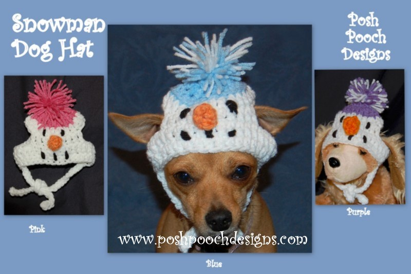 Posh Pooch Designs Dog Clothes Dog Hat Crochet Patterns For Small