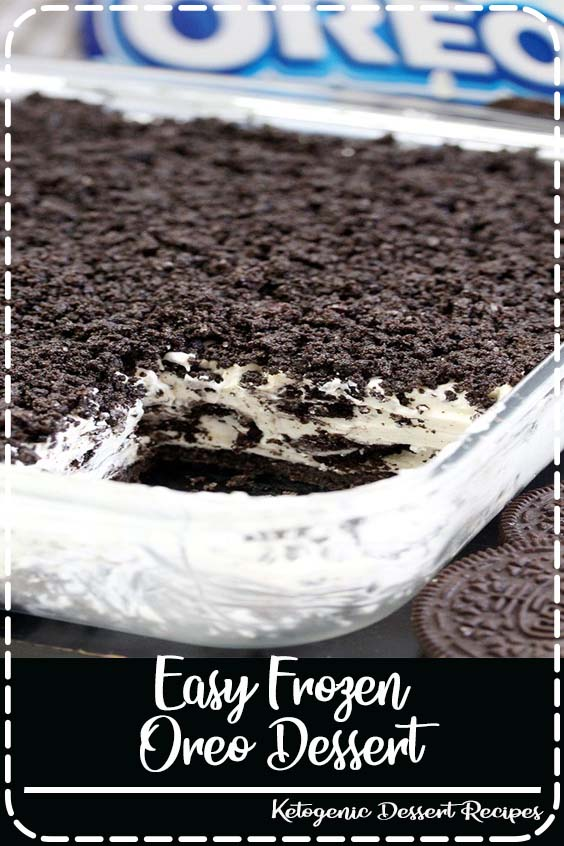 Easy Frozen Oreo Dessert This Easy Frozen Oreo Dessert is light, frozen summer dessert… so easy to prepare – just perfect for Oreo cookie fans. One of my favorite frozen desserts. #food #recipe #dessert#oreo ##easyrecipe #dessertrecipes