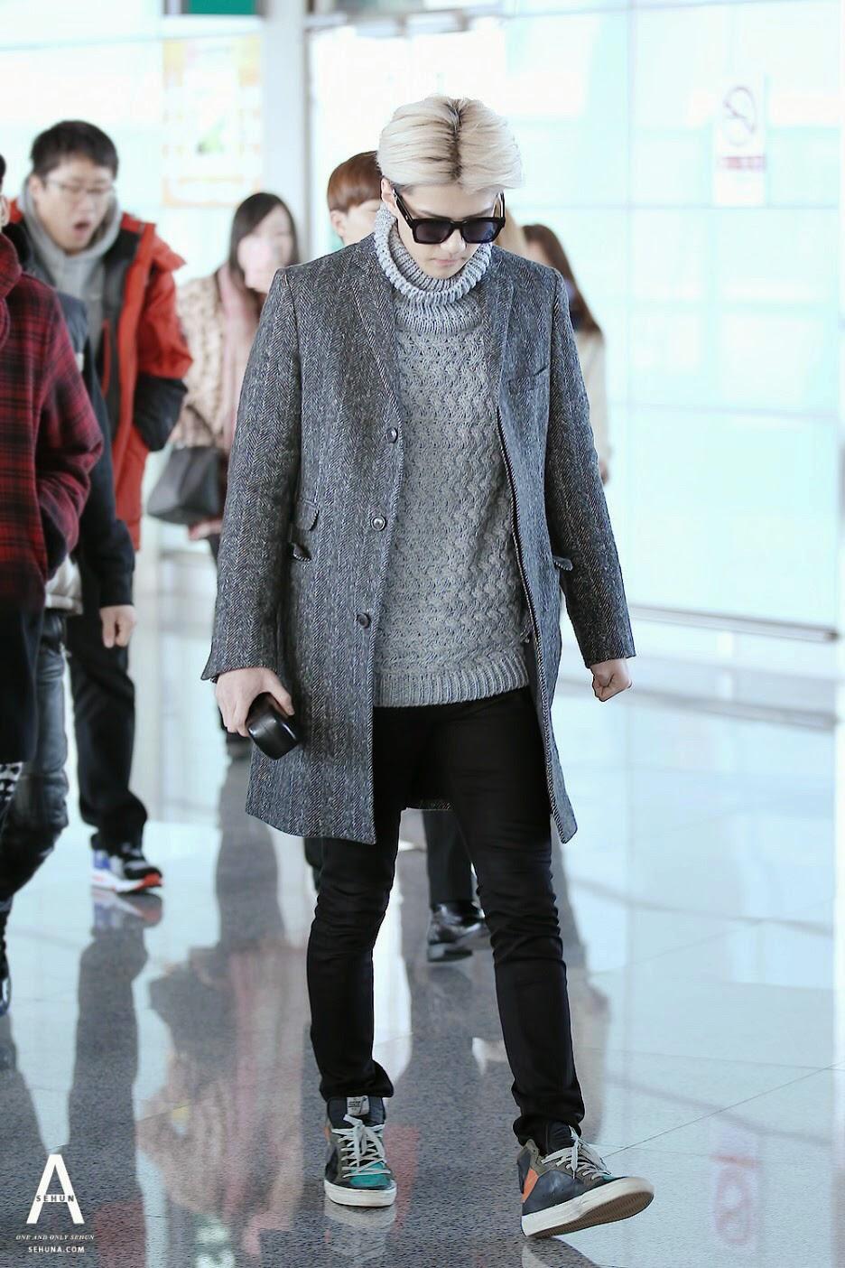 EXO Sehun Airport Fashion