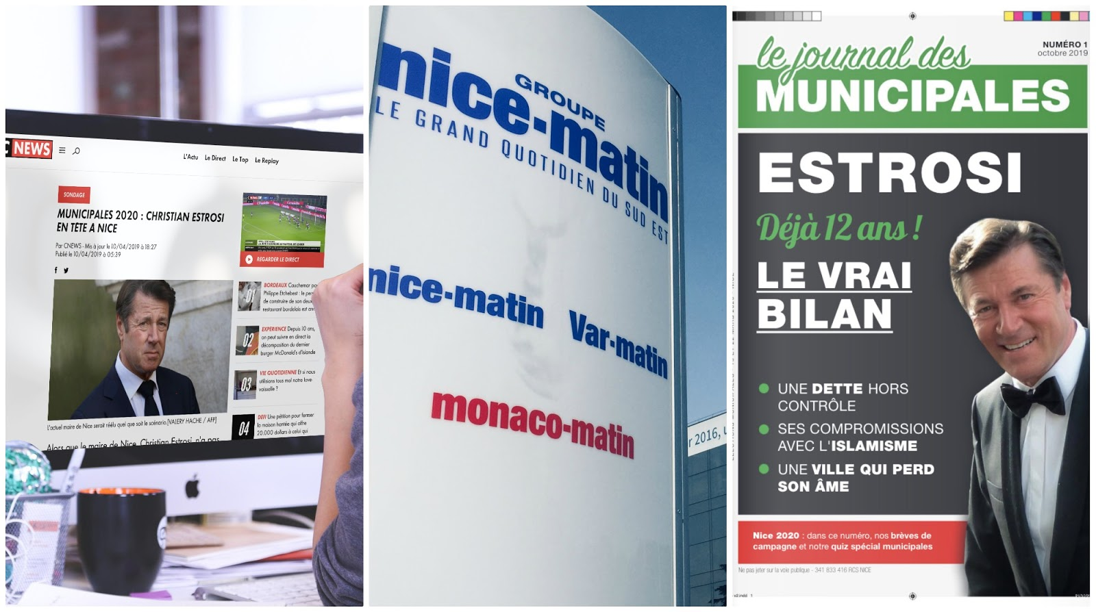 Manipulations de la presse: danger sur l'élection à Nice