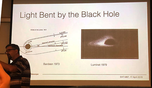 Geoffey Bower explains history of predictions for images of black holes (Source: Palmia Observatory)